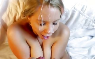 Amazing chick with huge eyes sucks dick and balls hd