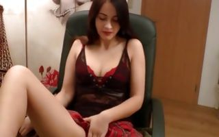 Terrific naughty ex-girlfriend posing and fingering wet cunt