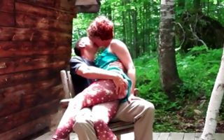 Sensual outdoor sex with hot ex-girlfriend and horny man