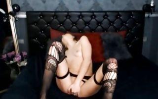 Fabulous amateur bitch posing and masturbating wet muff