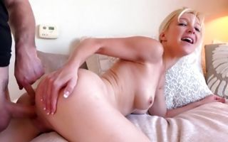 Nasty blonde girlfriend Laura Bentley has deep painful sex