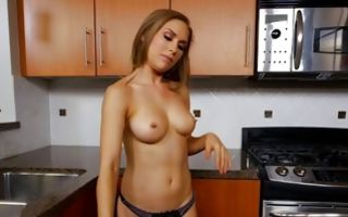 Adorable young Ex-GF with round tits playing with muff