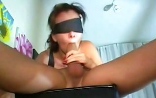 Sweet young ex-girlfriend insanely swallowing big knob