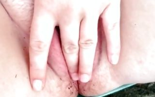 Horny amateur ex-girlfriend insanely masturbating pussy