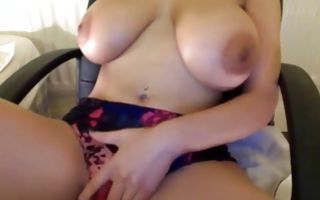 Tremendous Ex-GF with huge boobs playing with snatch
